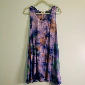 Umgee Tie Dye Racerback Tank Dress